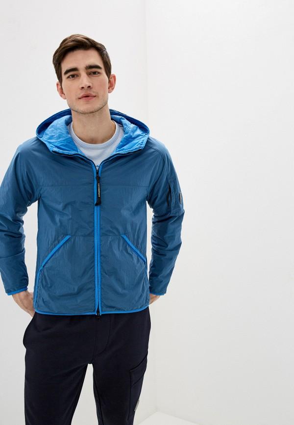 мужская куртка c.p. company, голубая