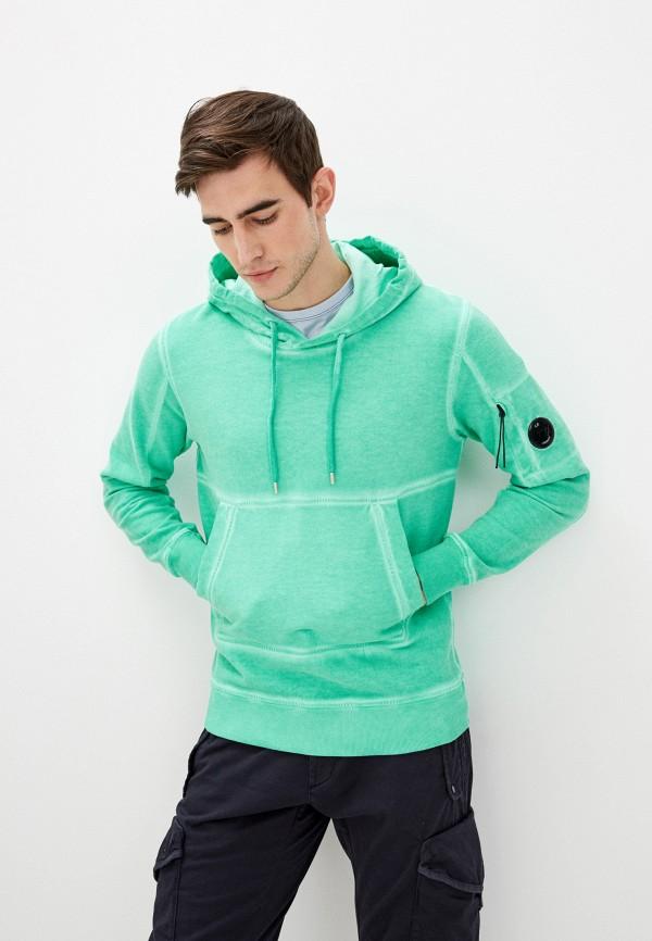 мужские худи c.p. company, зеленые