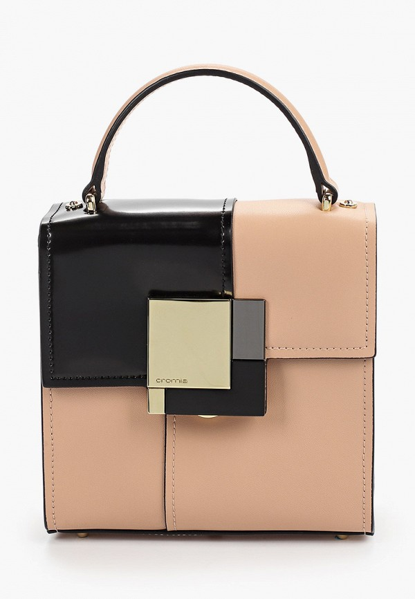 женская сумка cromia, бежевая