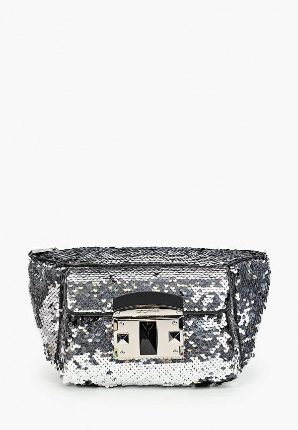 женская сумка cromia, серебряная
