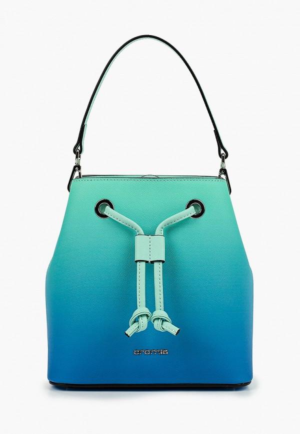 женская сумка с ручками cromia, бирюзовая