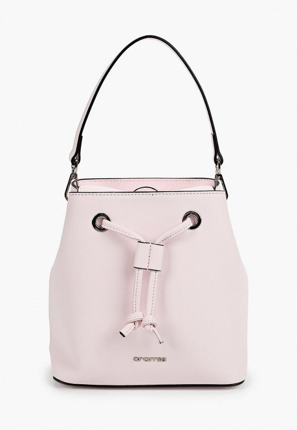 женская сумка-ведро cromia, розовая