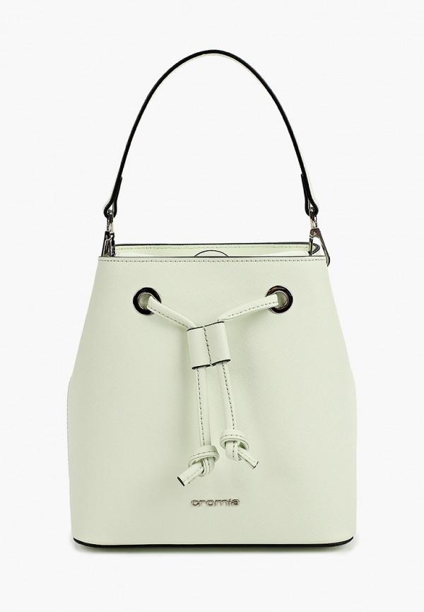 женская сумка с ручками cromia, белая