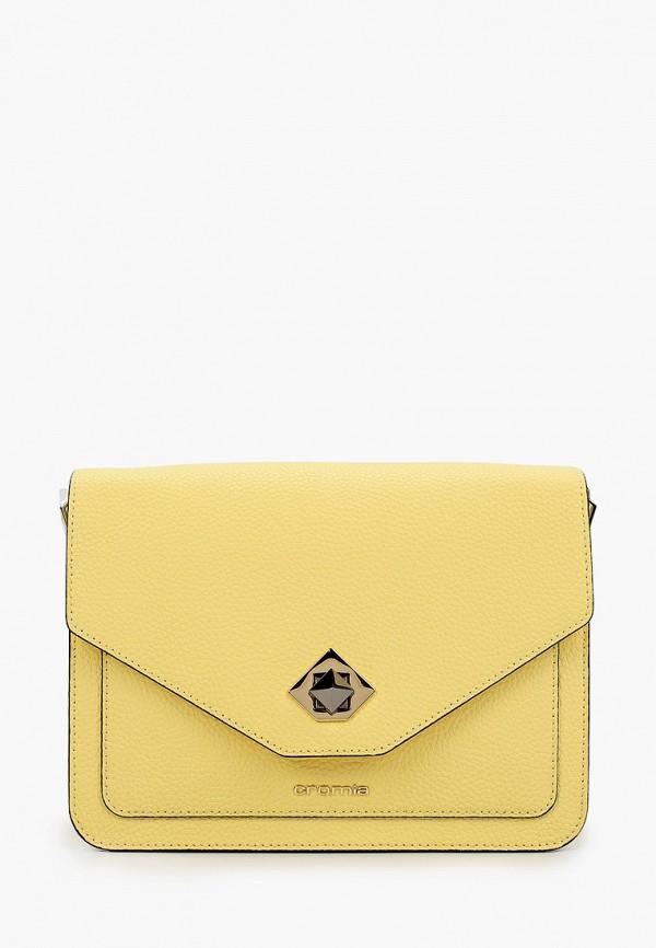 женская сумка через плечо cromia, желтая