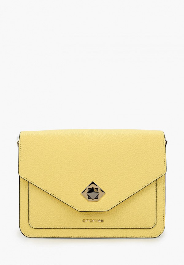женская сумка cromia, желтая