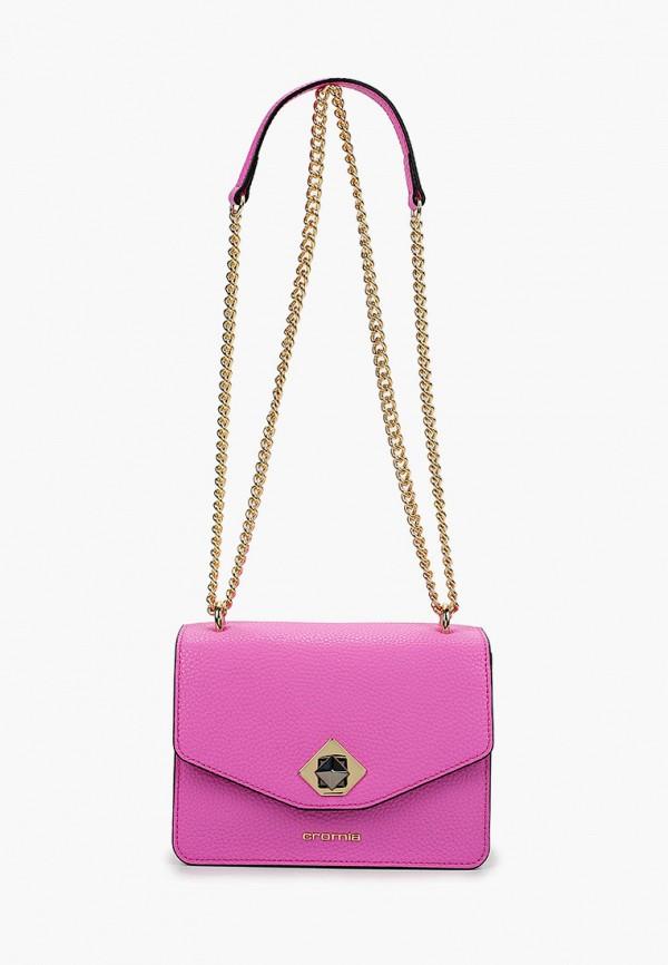 женская сумка через плечо cromia, розовая