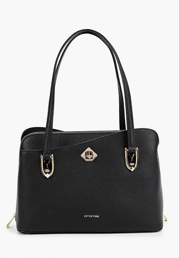 женская сумка с ручками cromia, черная