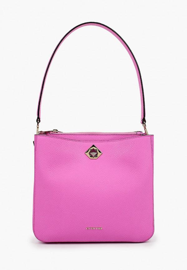 женская сумка с ручками cromia, розовая