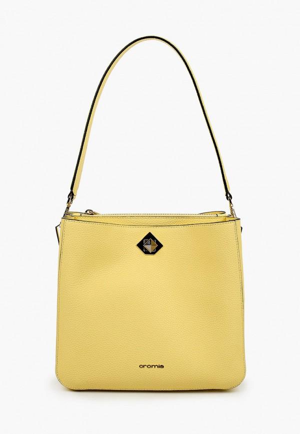 женская сумка с ручками cromia, желтая
