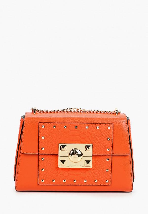 женская сумка через плечо cromia, оранжевая