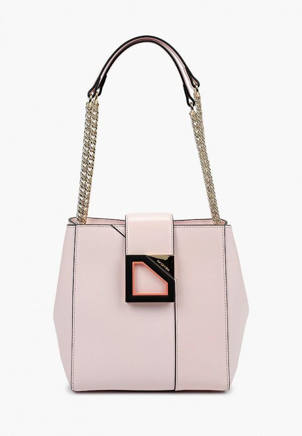женская сумка с ручками cromia, фиолетовая