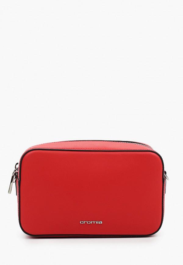 женская сумка через плечо cromia, красная