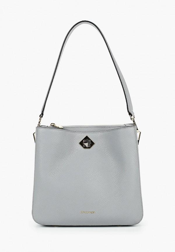 женская сумка с ручками cromia, серая