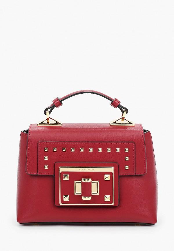 женская сумка через плечо cromia, бордовая