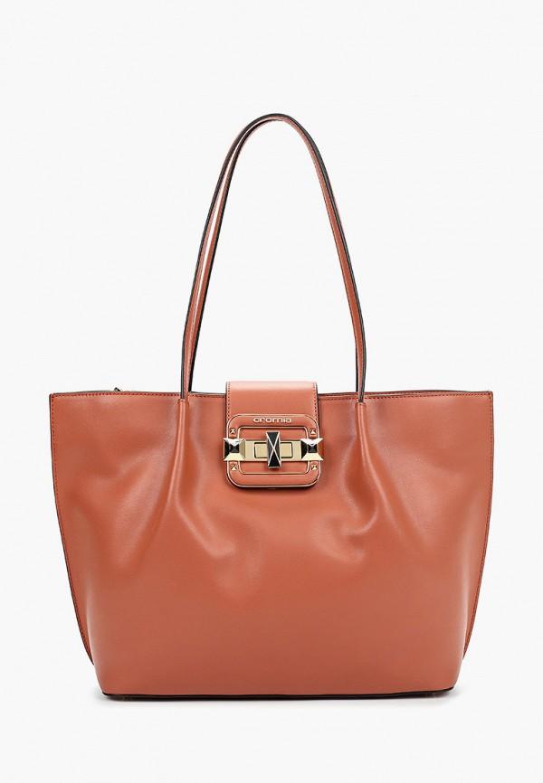 женская сумка cromia, коричневая