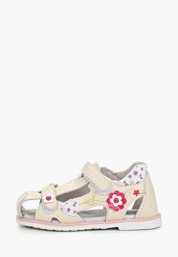 сандалии crosby для девочки, бежевые