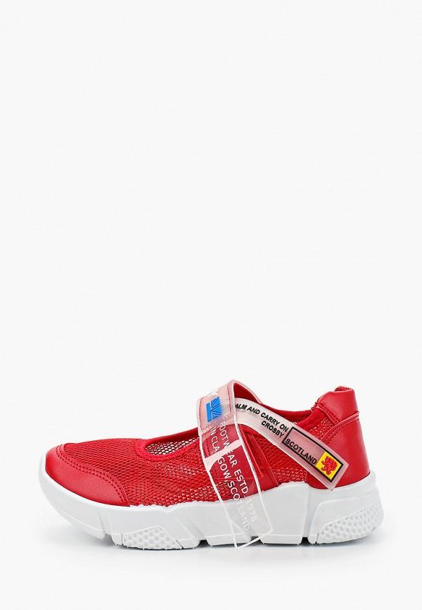 кроссовки crosby для девочки, красные