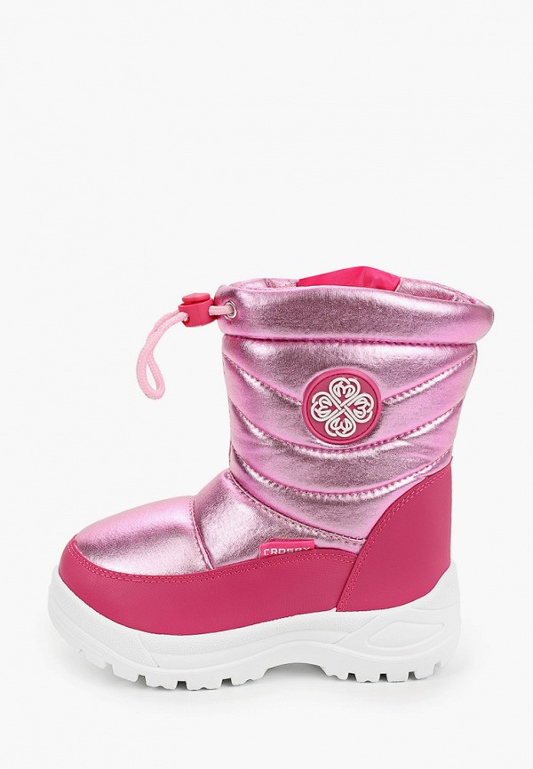 дутики crosby для девочки, розовые