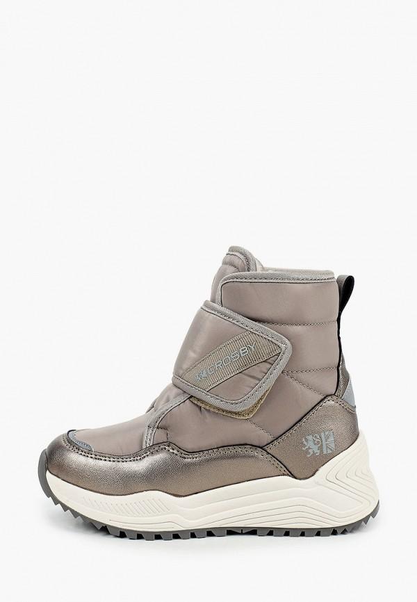 ботинки crosby для девочки, коричневые