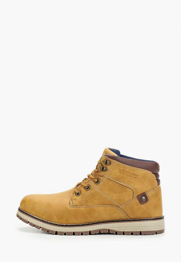 мужские высокие ботинки crosby, коричневые