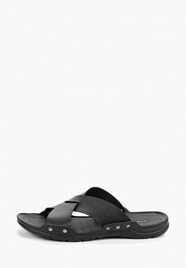 Фото - мужские сандали Crosby черного цвета
