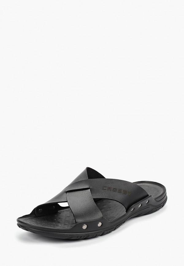 Фото 2 - мужские сандали Crosby черного цвета