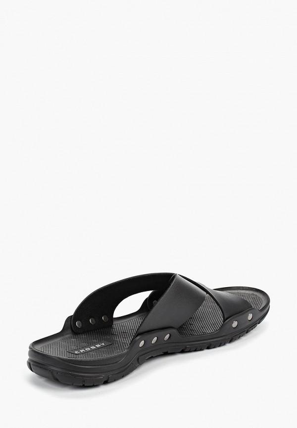 Фото 3 - мужские сандали Crosby черного цвета