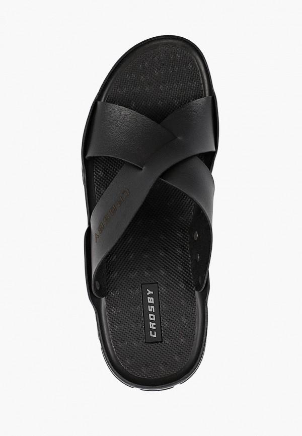 Фото 4 - мужские сандали Crosby черного цвета