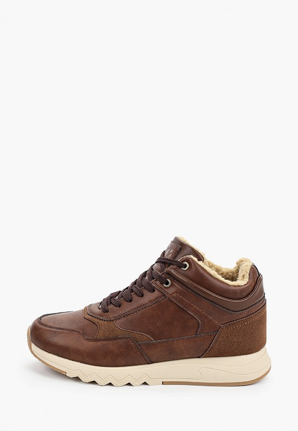 мужские высокие кроссовки crosby, коричневые