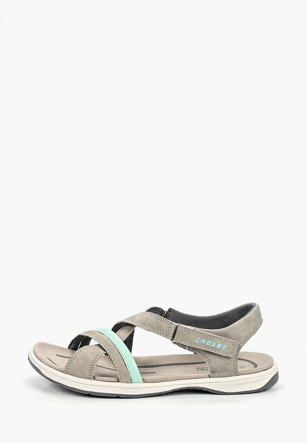 женские сандалии crosby, серые