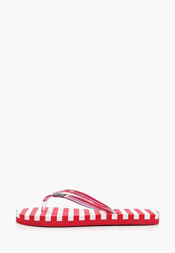 женские сланцы crosby, красные
