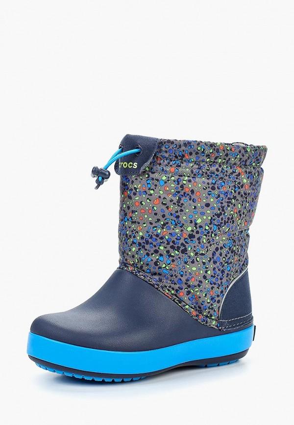 Купить Дутики Crocs, Crocband LodgePoint Graphic K, cr014abcqhk9, синий, Осень-зима 2018/2019