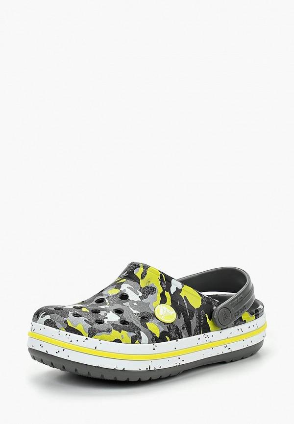 Купить Сабо Crocs, Crocband Camo Speck Clog K, CR014ABCQHL5, серый, Осень-зима 2018/2019