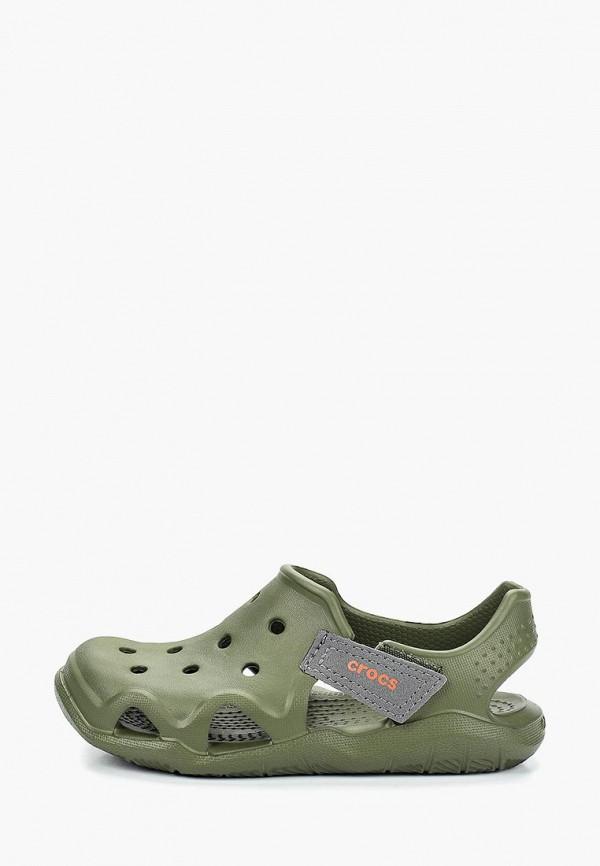 сандалии crocs для мальчика, хаки