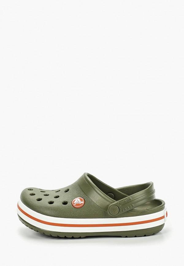 сабо crocs для мальчика, хаки