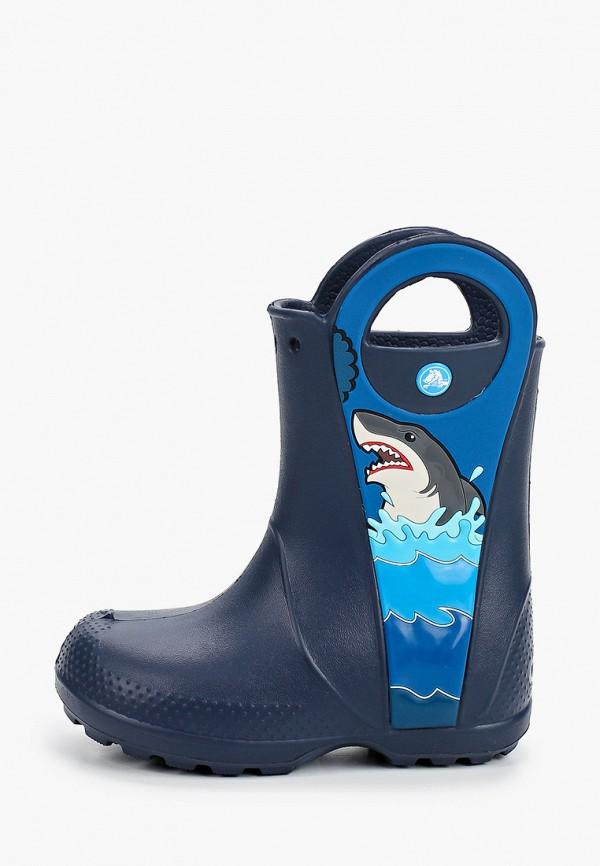 резиновые сапоги crocs для мальчика, синие