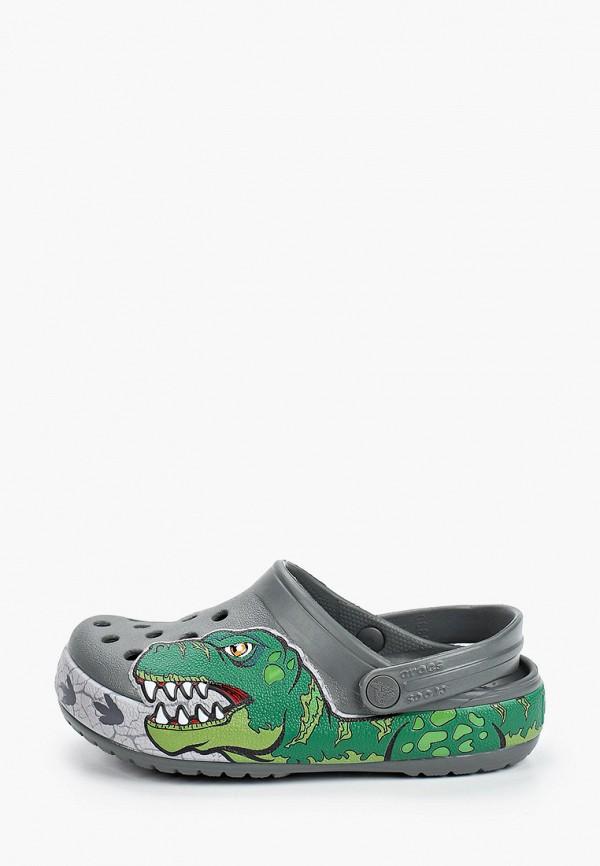 сабо crocs для мальчика, серое