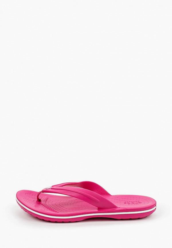 сланцы crocs для мальчика, розовые