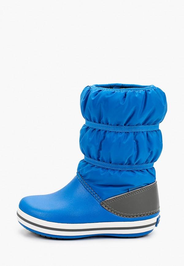 дутики crocs для мальчика, синие