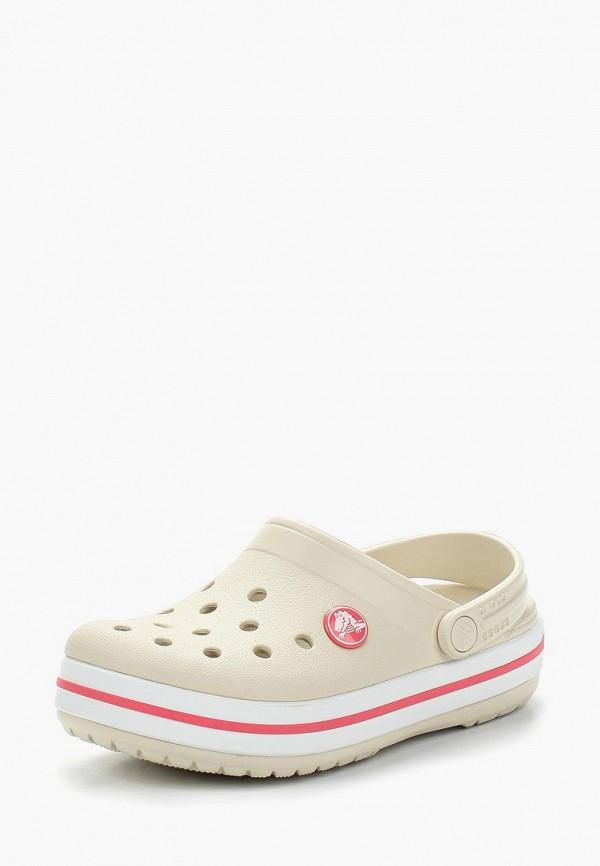сабо crocs для девочки, бежевое