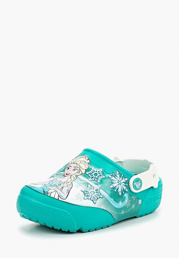 сабо crocs для девочки, зеленое