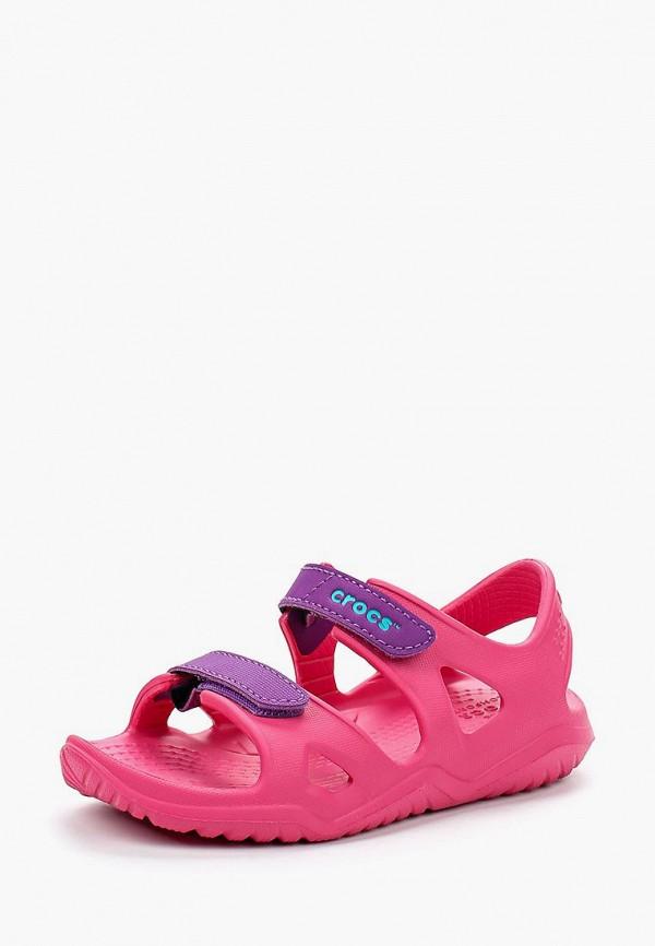 сандалии crocs для девочки, розовые
