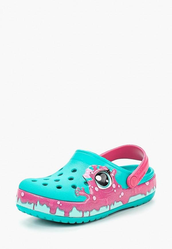 сабо crocs для девочки, бирюзовое