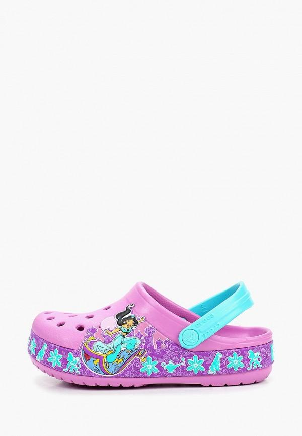 сабо crocs для девочки, фиолетовое