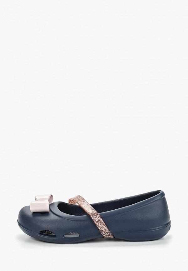 туфли crocs для девочки, синие