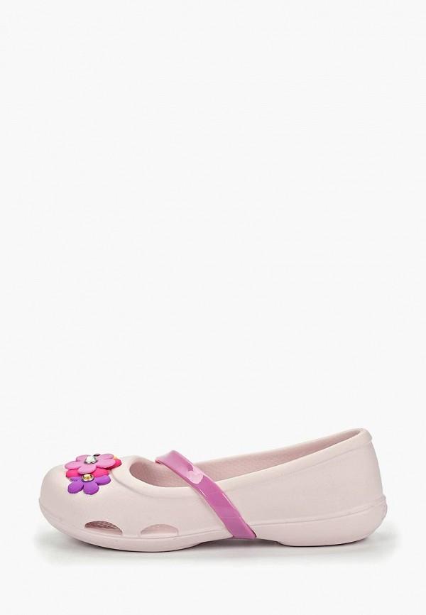 туфли crocs для девочки, розовые