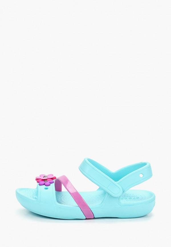 Купить Сандалии Crocs, Crocs Lina Charm Sandal K, cr014agemxu0, бирюзовый, Весна-лето 2019