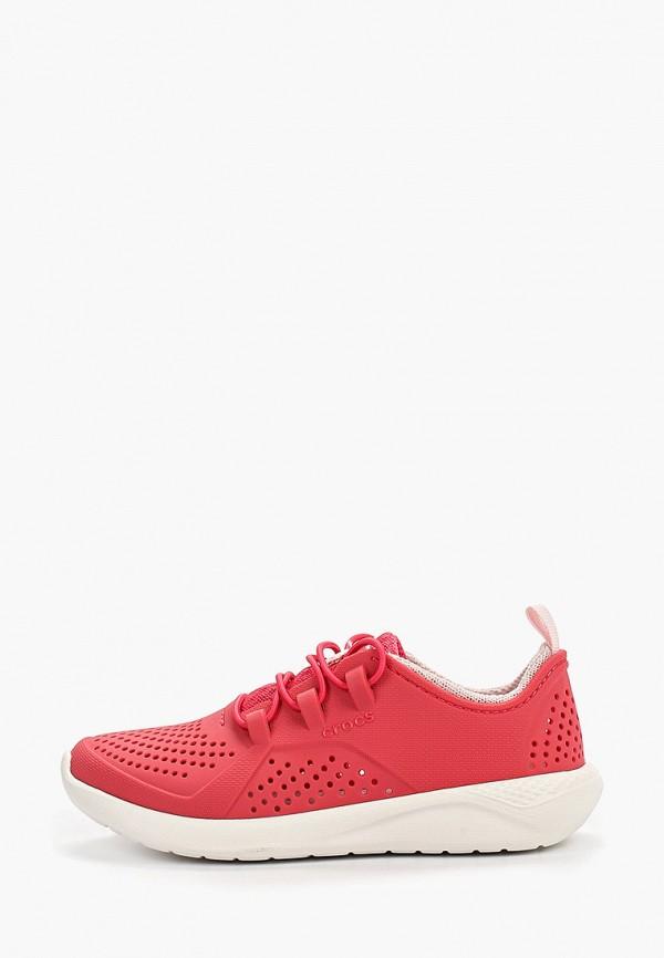 кроссовки crocs для девочки, красные