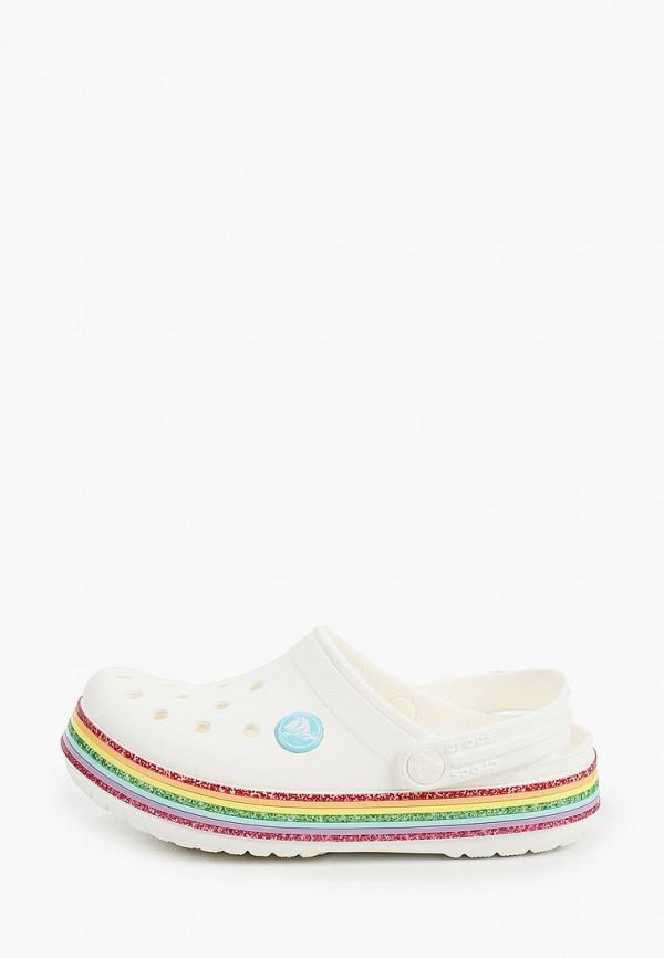 сабо crocs для девочки, белое