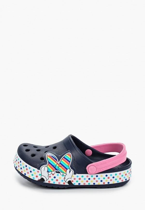сабо crocs для девочки, синее